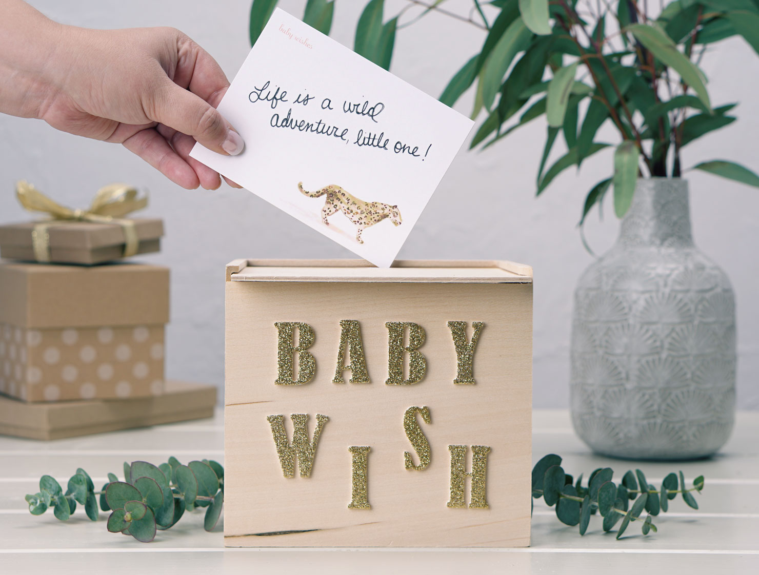 baby shower guest card box